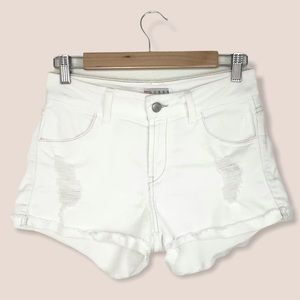 Guess Distressed Cutoff Shorts White size 26
